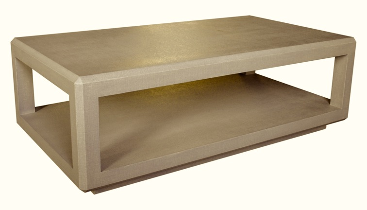BEVELED PARSONS COFFEE TABLE