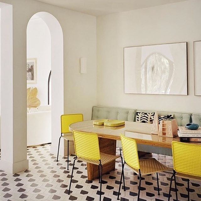 Simply chic. Interior by India Mahdavi. Photography Ambroise Tezenas. Repost @fionafidder.  #interiordesign #interiordesigner #interior #luxury #luxuryhomes #cotesazur #midcenturymodern #indiamahdavi #ambroisetezenas #chicinteriors #taste #adfrance #frenchdesigner #style #interiordecorating #interiorinspo #interiordesigninspiration #designicon #yellow #art #artfurniture #karlspringerltd #customdesign #bespokedesign #customfurniture #karlspringer #midcenturydecor #decor #homedecor