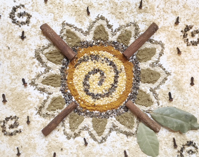 Mandala of Kitchari spices