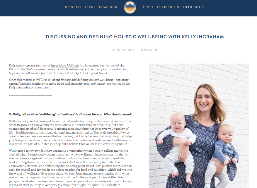 Discussing and Defining Holistic Well-being - Kelly Ingraham, the founder of Inner Light Wellness, is ....