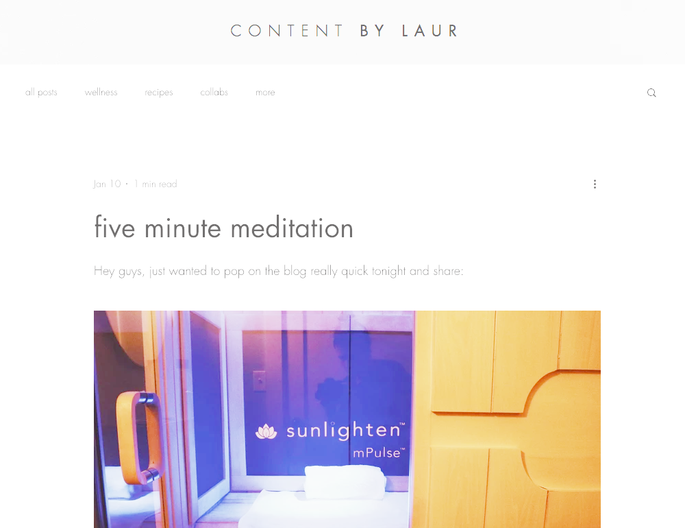 Five Minute Meditation - I just returned home from Inner Light (aka my favorite way to spend 55 minutes) and feel incredible...