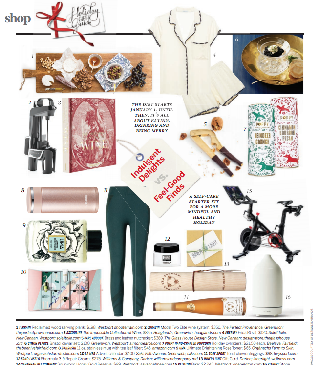 Greenwich Mag: Holiday Gift Guide - A self care starter kit for a more mindful holiday