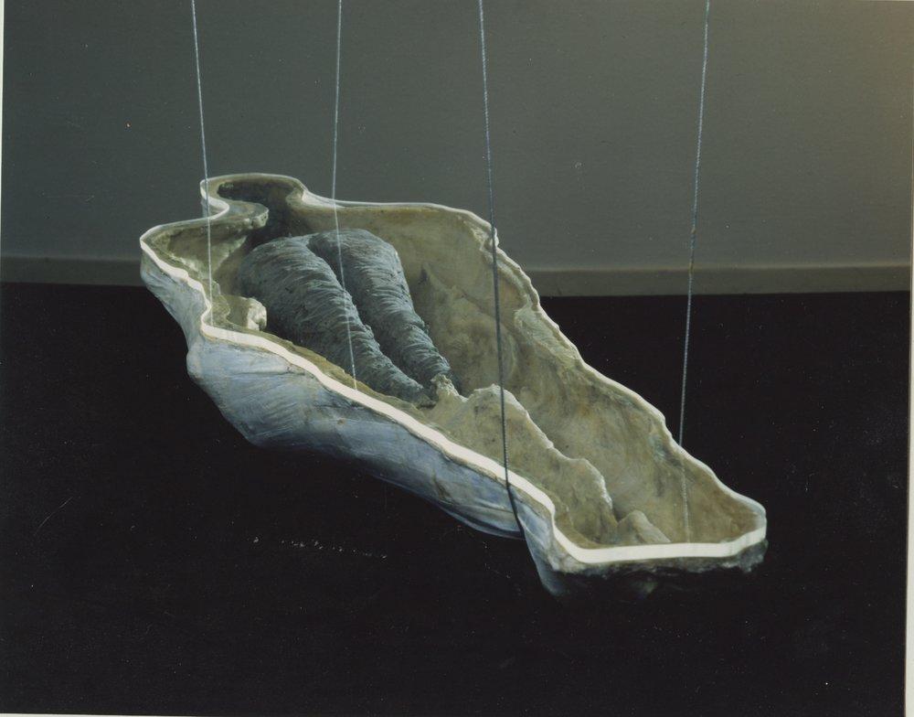 No title: Ram Galleri 1996 Polyester, plexiglass, beeswax