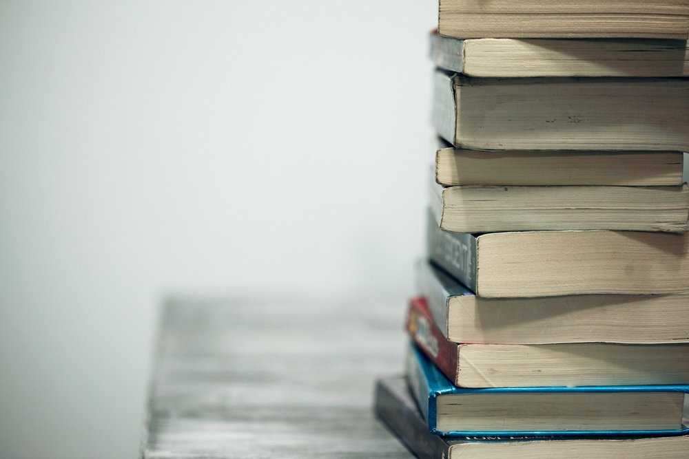 An image of a stack of books
