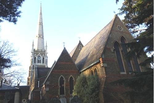 A Photograph of St James's Church, Hampton Hill