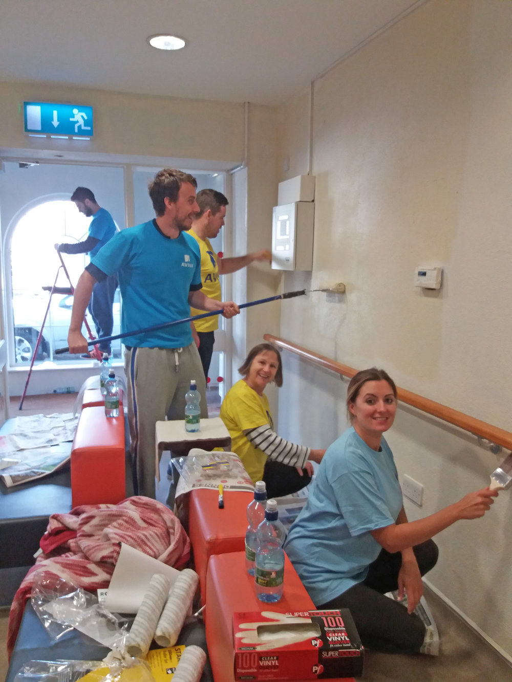 Volunteers from Aviva Galway working alongside Ability West staff at Blackrock House Adult Day Service. Other companies which have taken part in our Corporate Volunteering Programme include Medtronic Mervue and PwC.