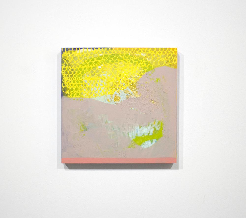 kraftmac , 2014, tecnica mista su tavola, 25 x 25 cm