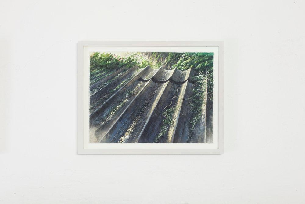 Cava , 2017, gouache su carta, 24 x 32 cm