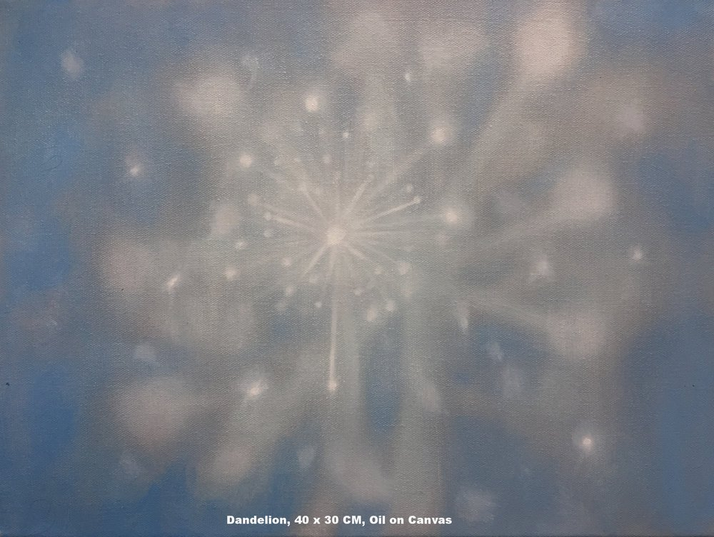 Dandelion, 40 x 30 CM, Oil on Canvas, 2017, 300 Euro.jpg