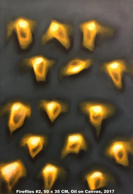 Fireflies #2, 50 x 35 CM, Oil on Canvas, 2017, 325 Euro.jpg