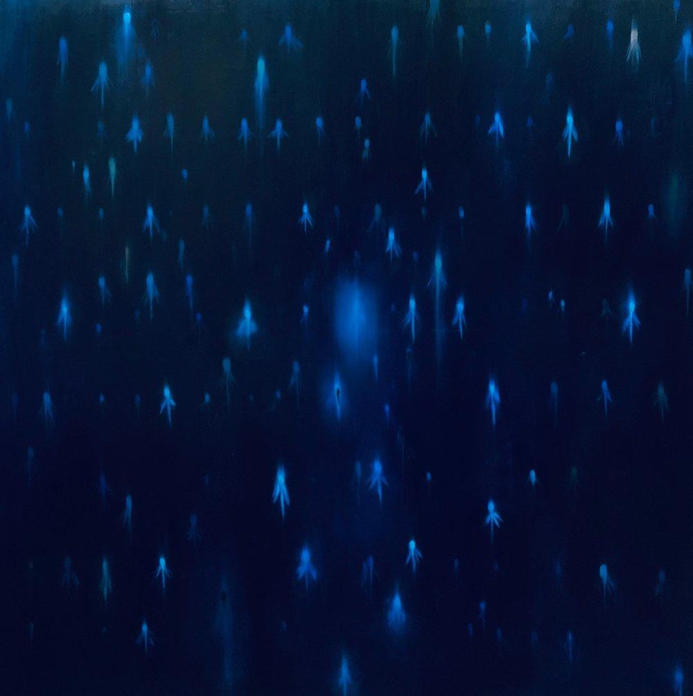 Fireflies #3 (blue)
