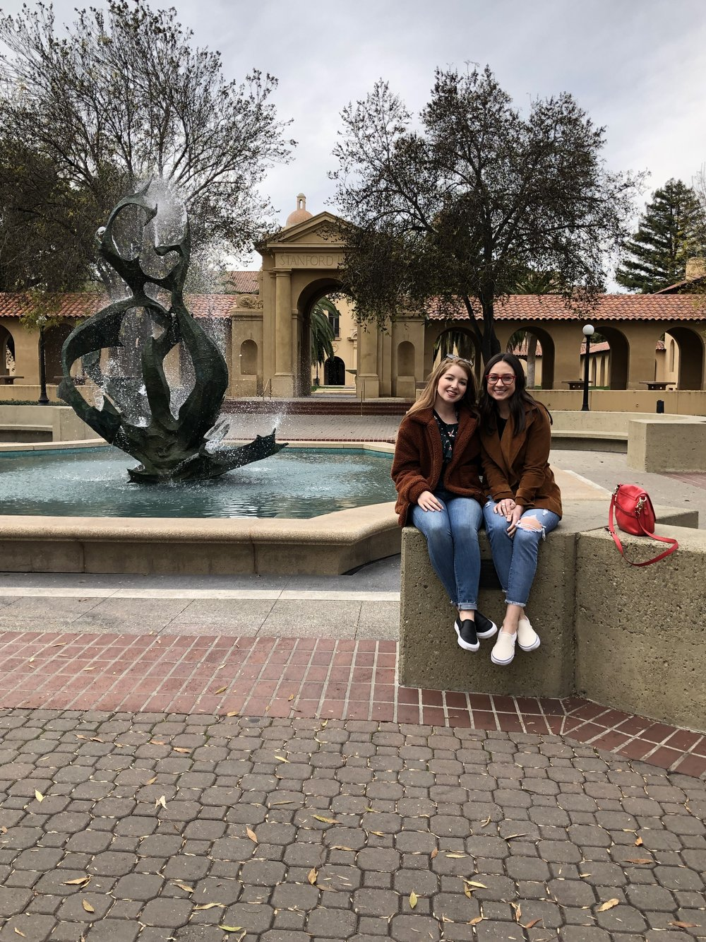 Lexi and I on Stanford University's Campus