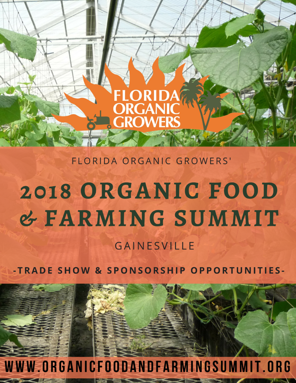 In 2017, the inaugural Organic Food & Farming Summit saw over 200 participants. Our post-Summit surveys revealed that 90% of these participants intend to attend the 2018 Summit and based on the success of last year's event, we expect to double attendance this year!   By becoming a 2018 sponsor, your company or organization has the chance to reach hundreds of potential clients during the Summit and thousands prior to and following the event.  - Check out our sponsorship package to the left or submit your sponsorship now by clicking on the button above