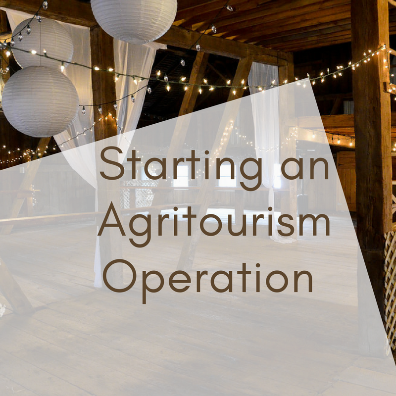 Starting an Agritourism Operation