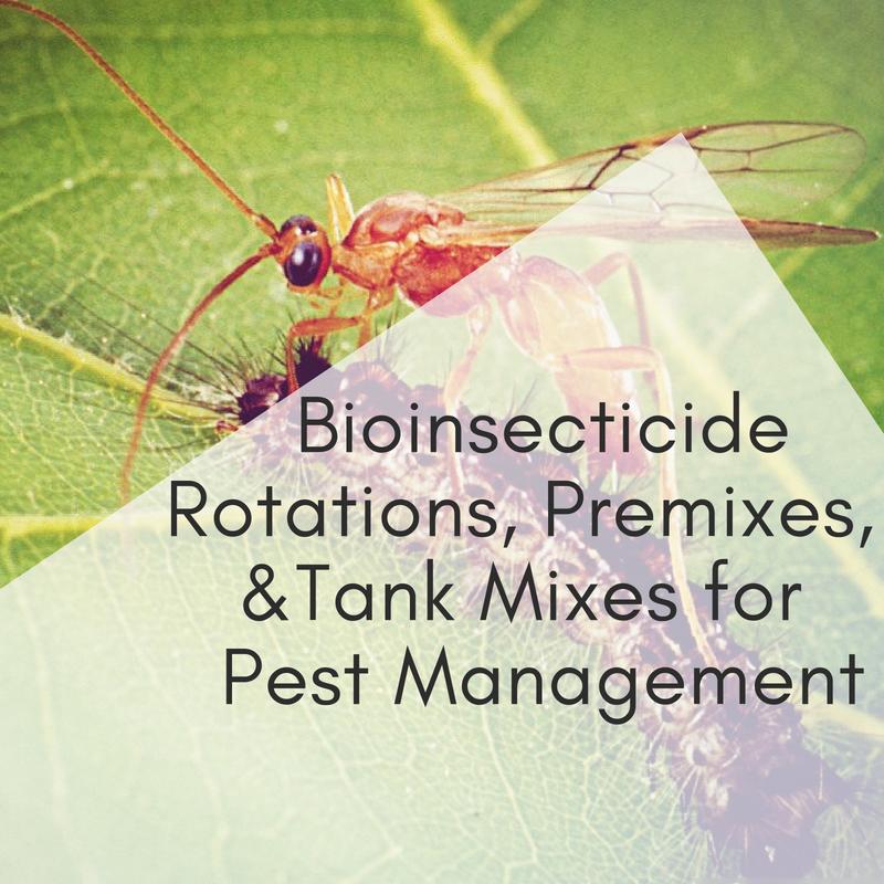 Bioinsecticide Rotations, Premixes, & Tank Mixes for Pest Management