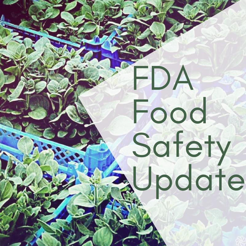 Food Safety FDA Update