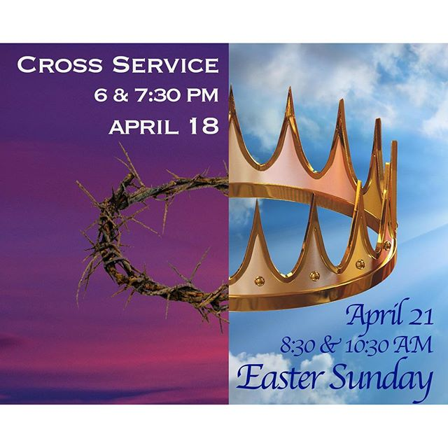 Plan to join us on April 18 and 21 for these special services!