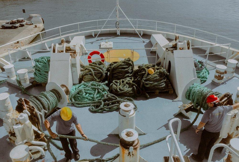 on the boat Malta
