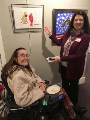 NHAA President Renee Giffroy with One Sky artist Michelle Schladenhauffen