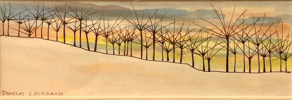 Winter Sunset  |  Doug Richards  | Mixed Media