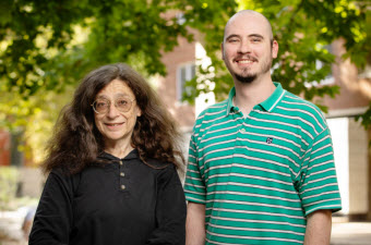 A research team including entomology professor and department head May Berenbaum, left, and graduate student Daniel Bush discovered an unusual partnership between a caterpillar and fungus that attack a variety of fruit and nut crops. Photo by L. Brian Stauffer