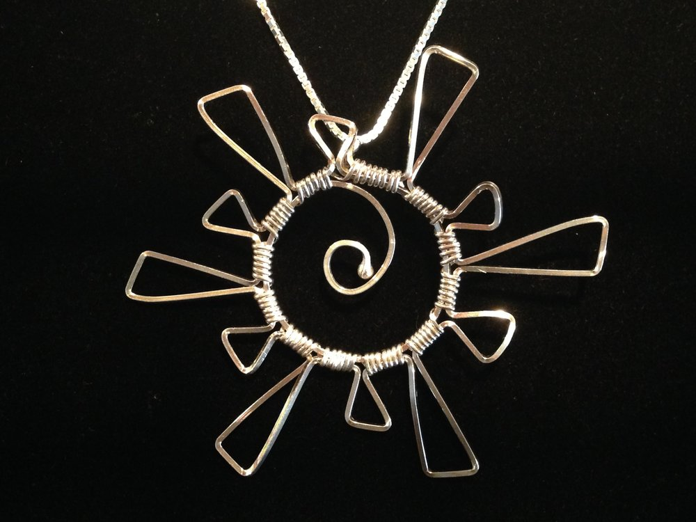 Starburst Necklace - Silver Pendant