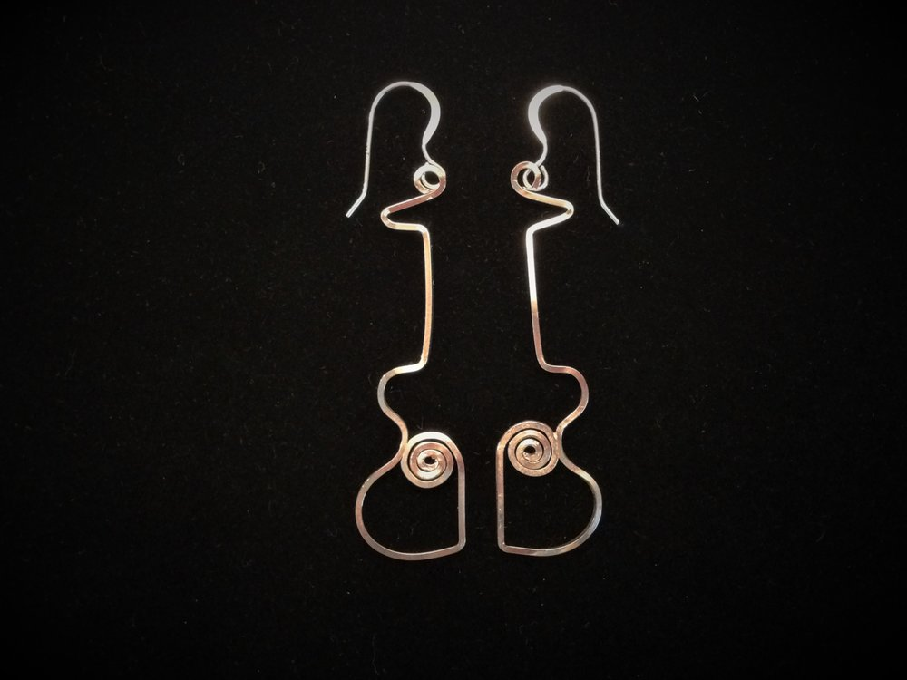 Half GuitarEarrings -