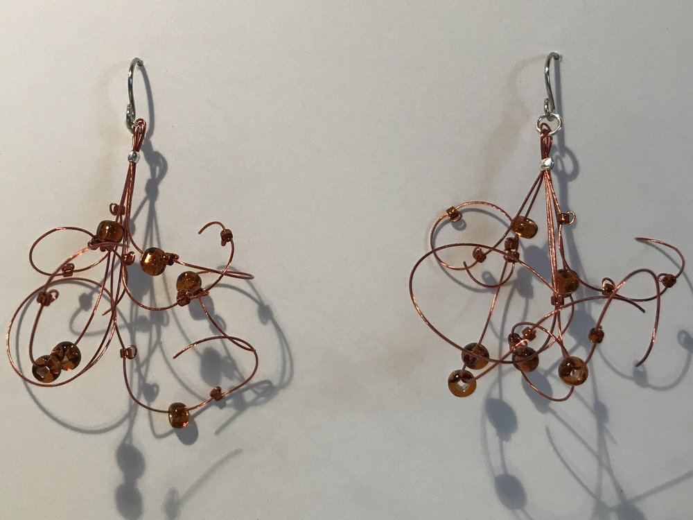 Copper Lace Earrings