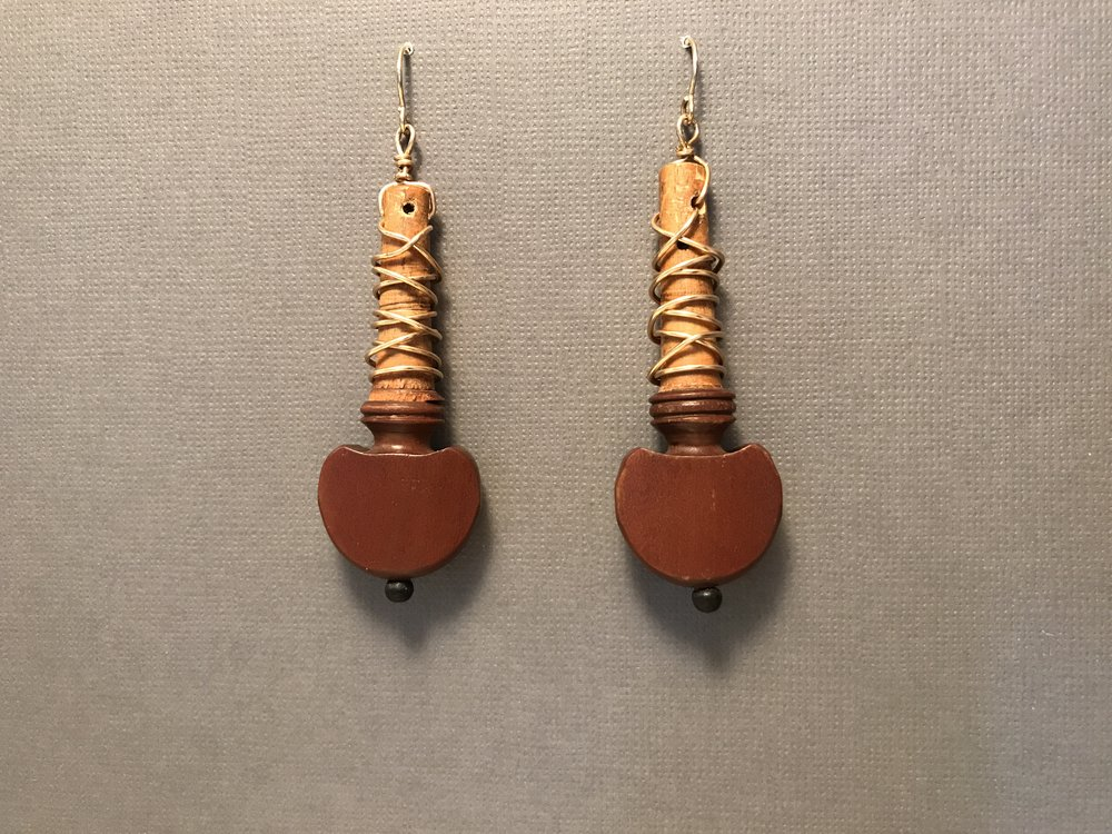 Fiddle Peg Earrings