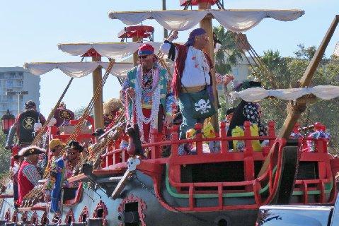 Pirates in the Gasparilla Parade.
