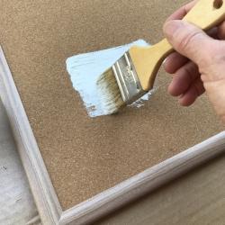 Paint the corkboard