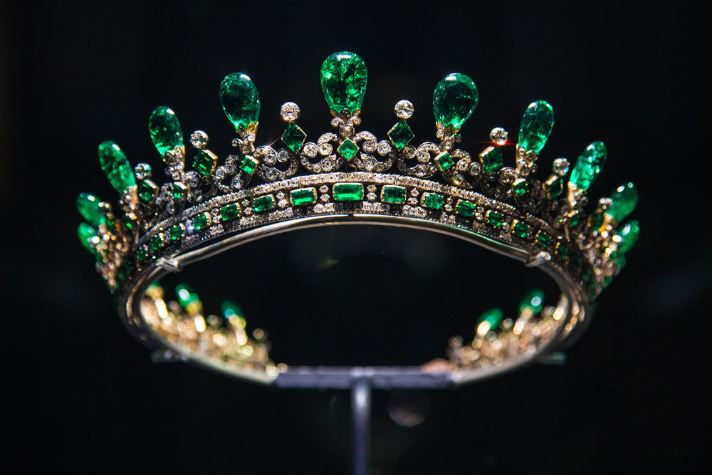 Queen Victoria's Diamond and Emerald Tiara