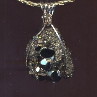 Druzy Pyrite Necklace