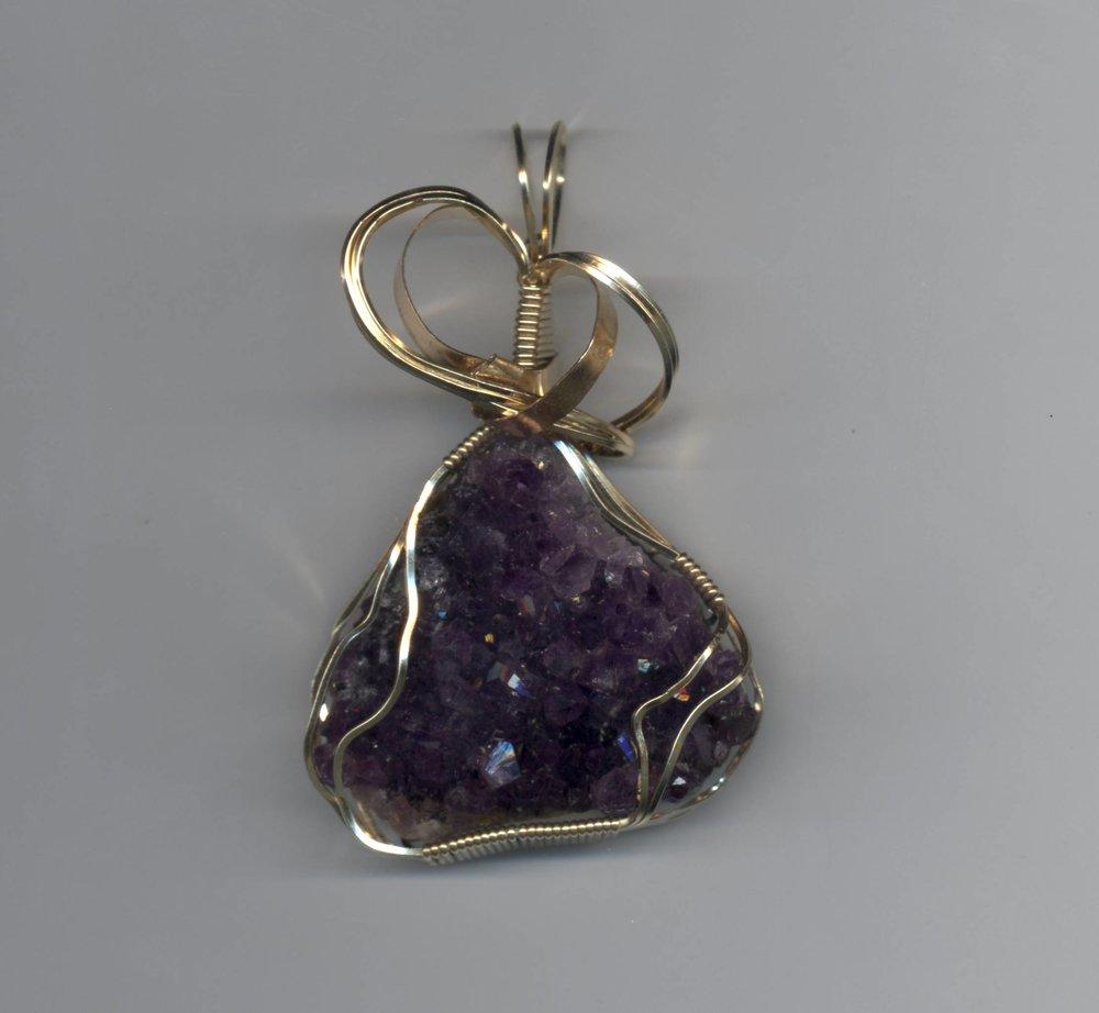 Druzy Quartz Amethyst Necklace