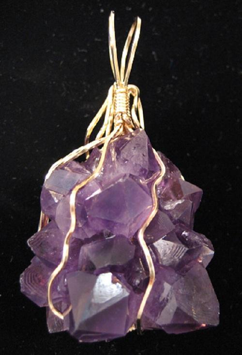 Crystal Drusy Amethyst Necklace