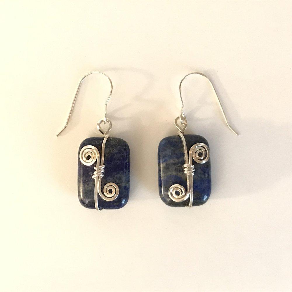 Blue Lapis Earrings