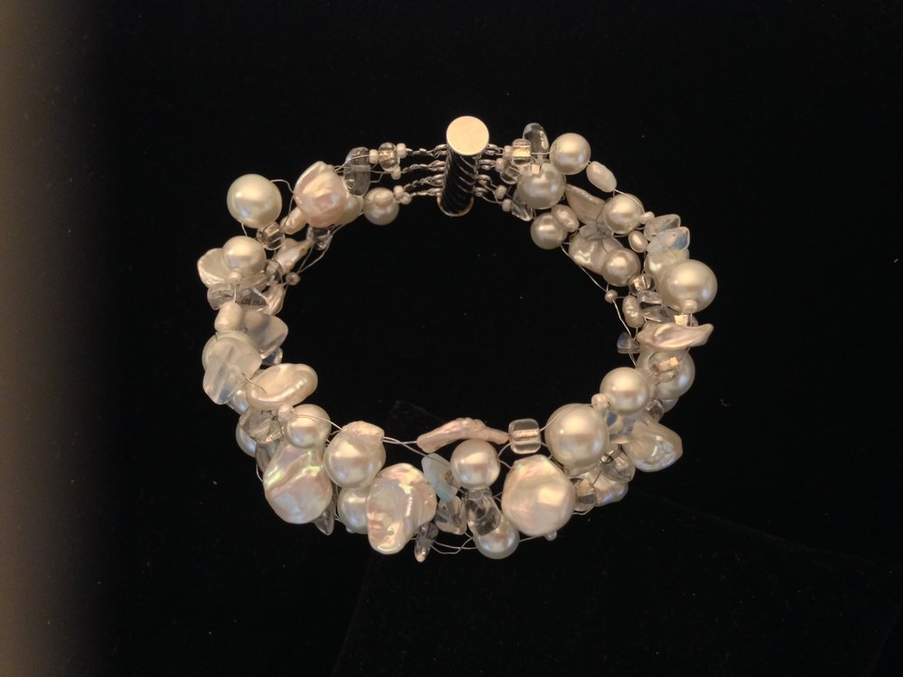 Pearls and Lace Bracelet