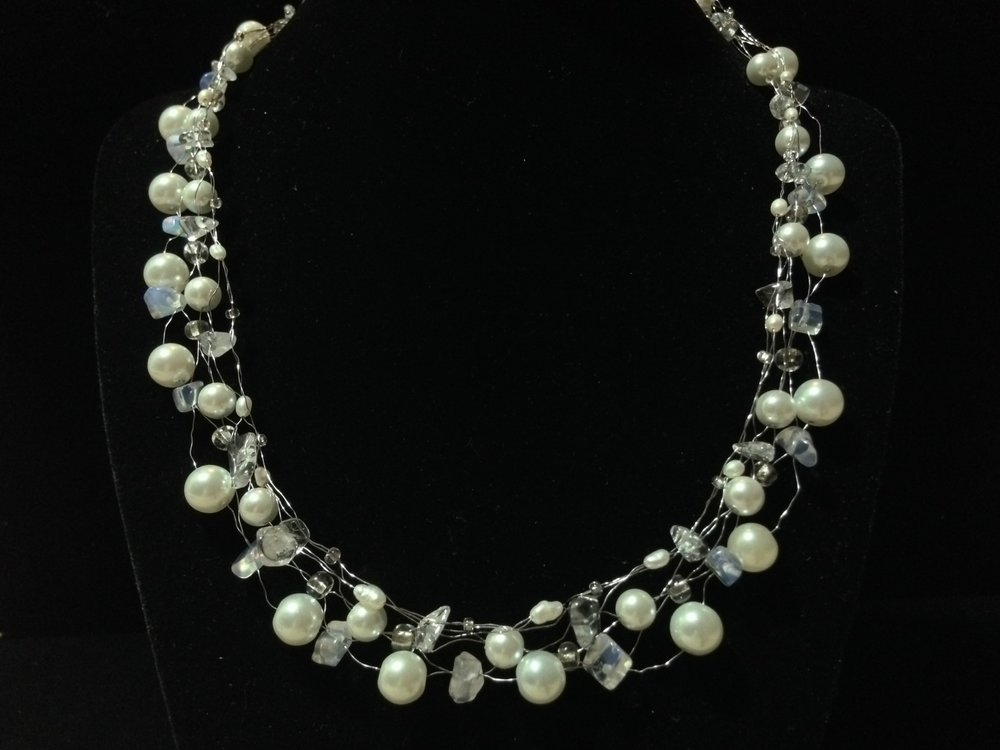 Pearls and Lace Necklace