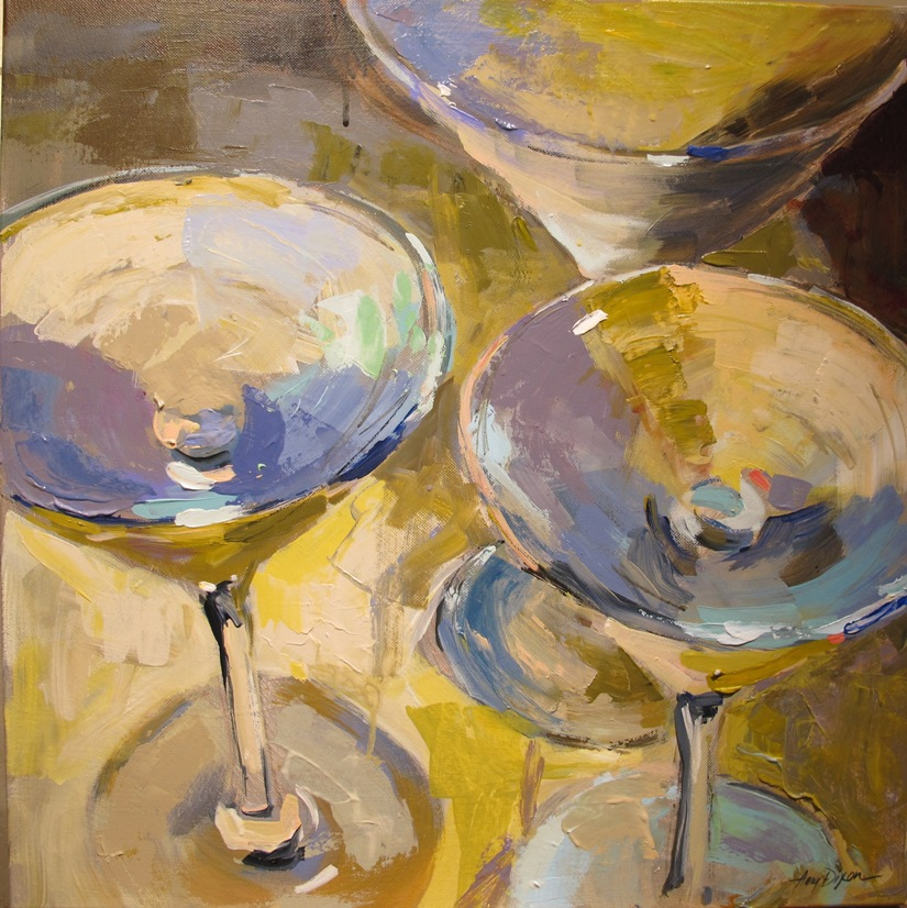 "French Martinis 20"" x 20"""