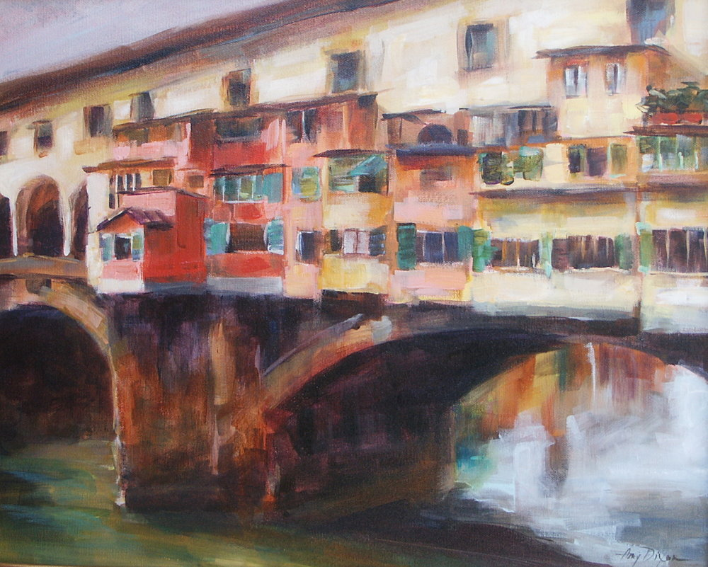 "Ponte Vecchio 16"" X 20"" SOLD"