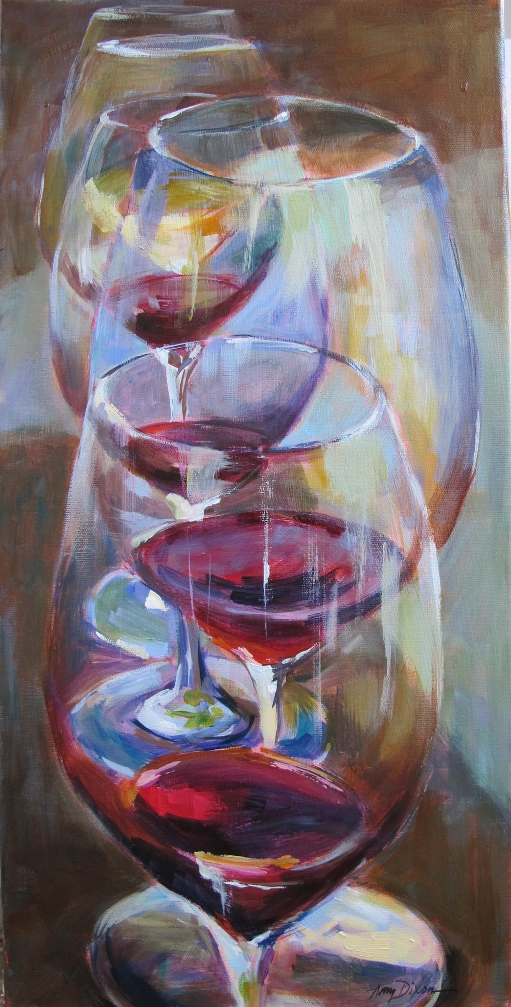 "Winetasting 24"" x 12"" SOLD"