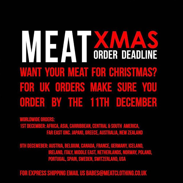 Want your meat in time for Christmas? 🎄 #xmaspresent