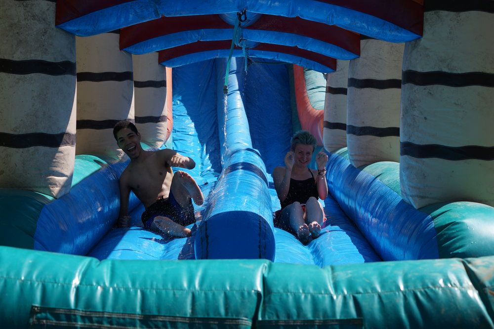 So much fun on the Mammoth Waterslide!