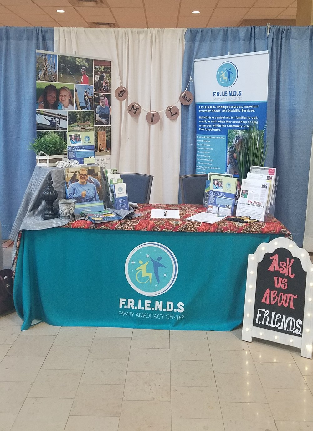 F.R.I.E.N.D.S booth at an expo