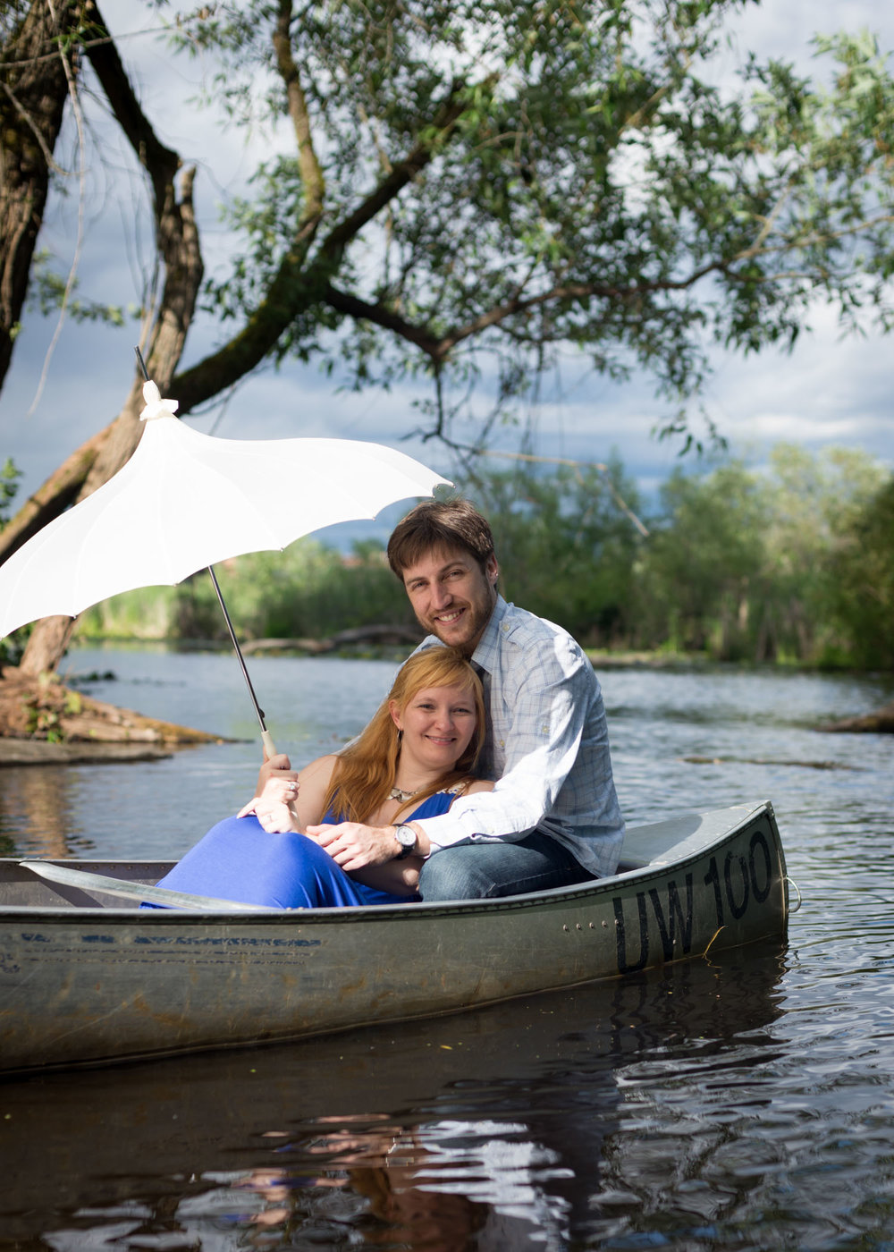 Romantic canoeing in Lake Washington