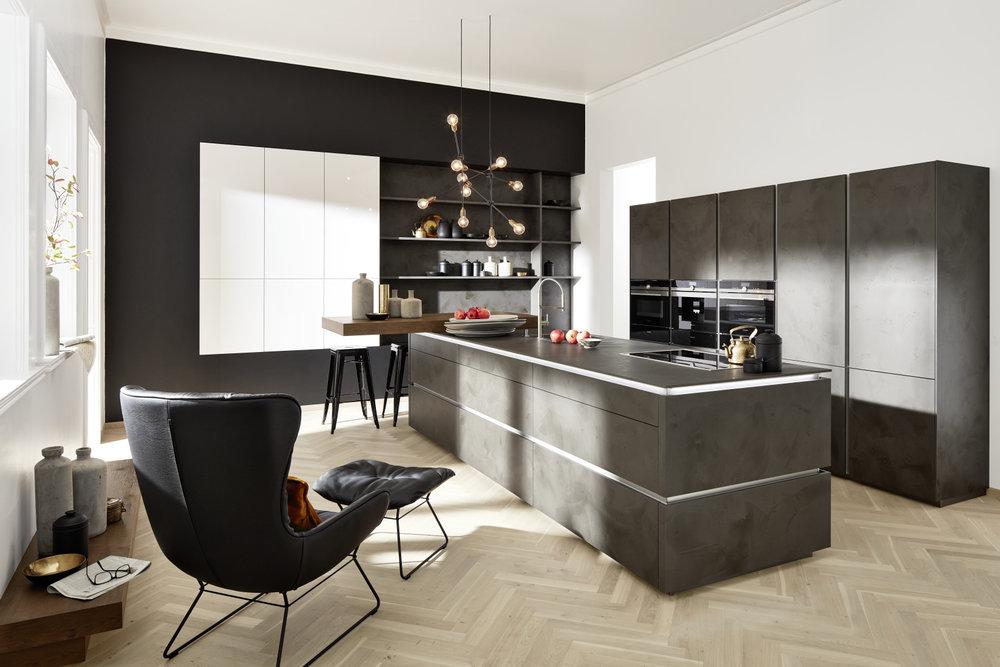 Modern 7haus for Küchen vitrine