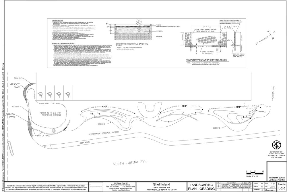 Grading Plans, LID stormwater solutions