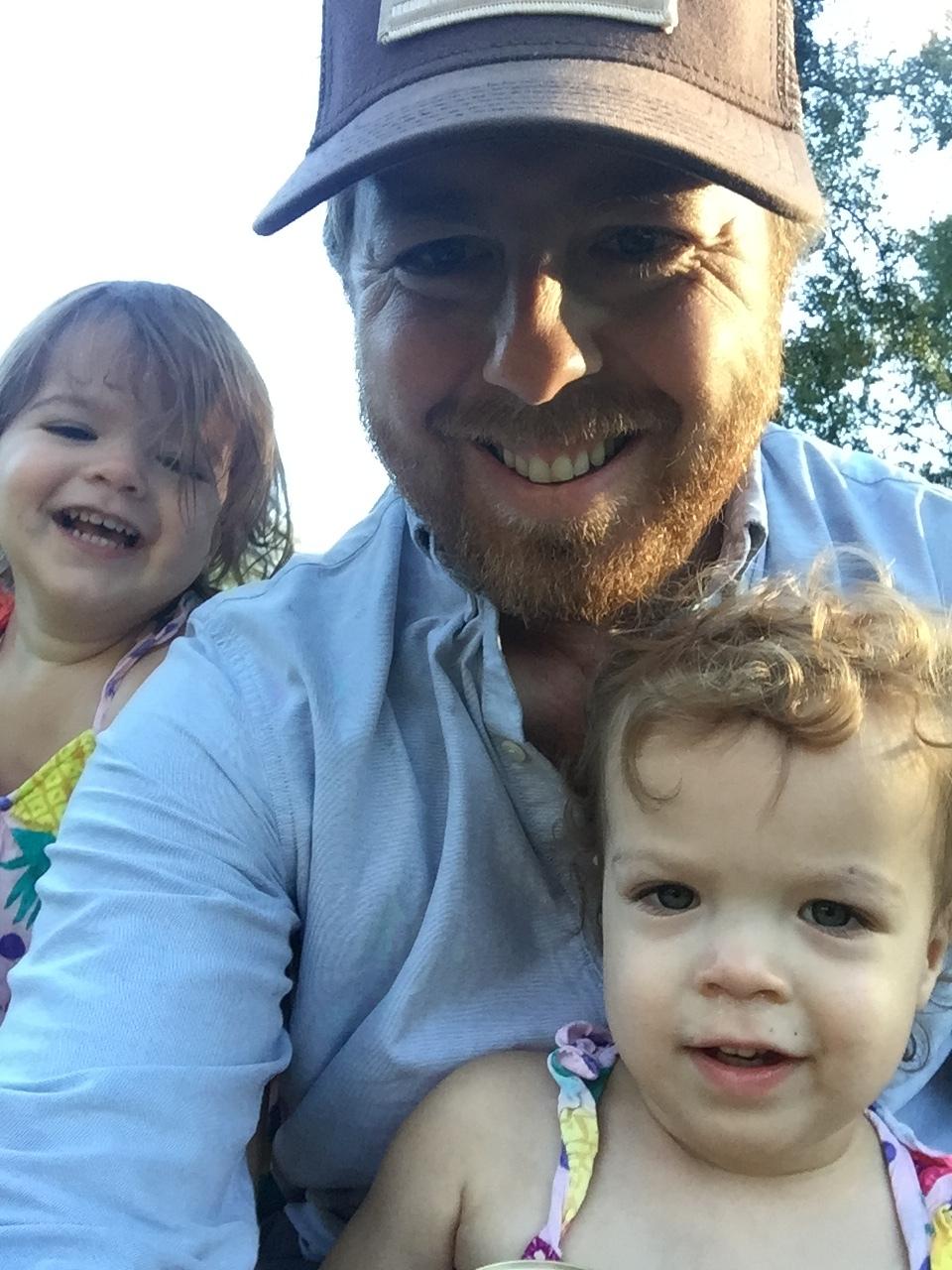 Josh Drake and twins
