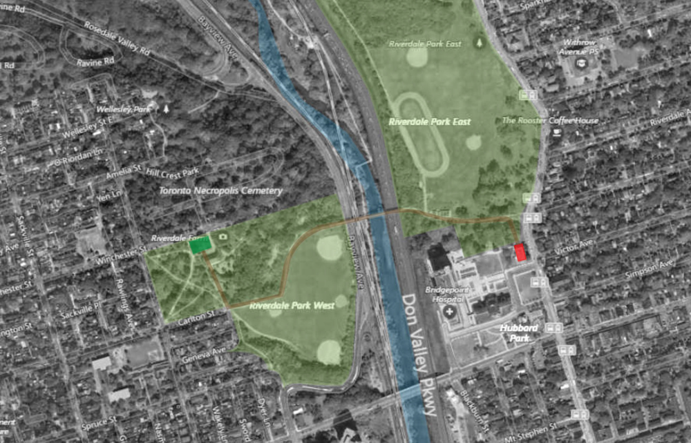 Riverdale Toronto Park-map.png