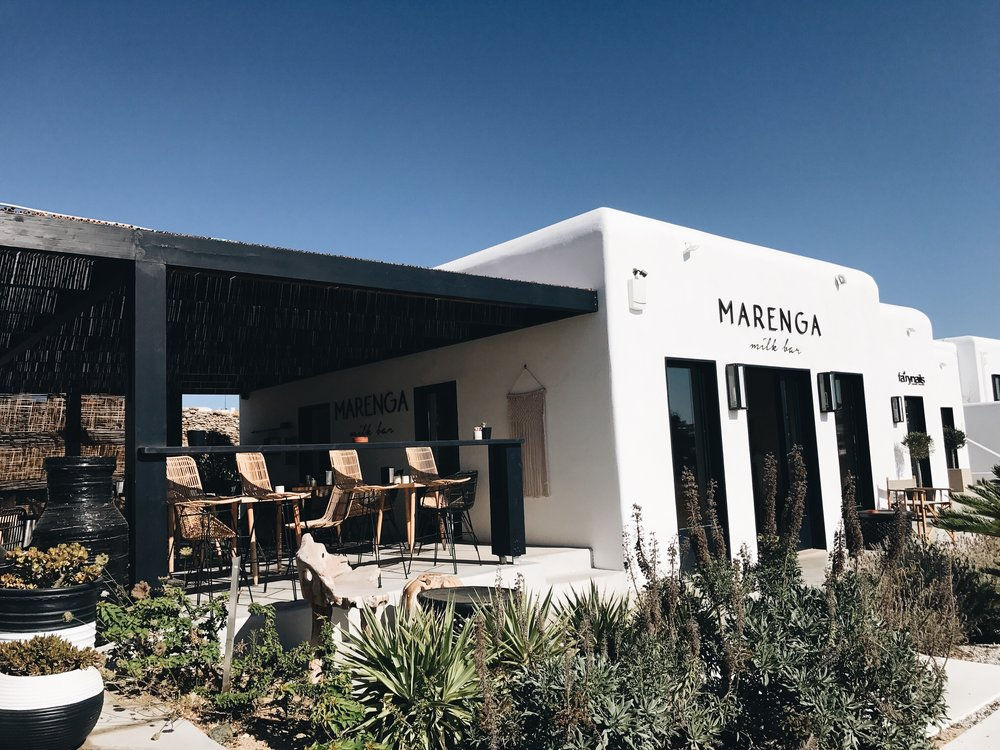Marenga Milk Bar is a 20 minute drive from Mykonos Town